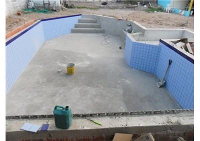Ceramica para piscina de alvenaria